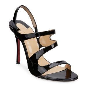 NIB Christian Louboutin Vavazou patent Sandals,36